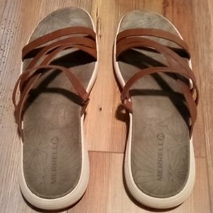 Merrell brown leather sandals 8
